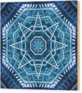 Abstract Blue 20 Wood Print