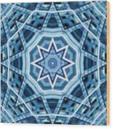 Abstract Blue 22 Wood Print