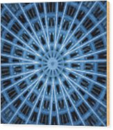 Abstract Blue 28 Wood Print