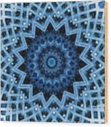 Abstract Blue 30 Wood Print