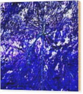 Abstract Blue Wood Print