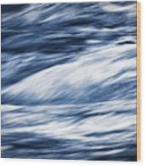 Abstract Blue Background Wild River Wood Print