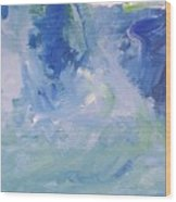 Abstract Blue Reflection Wood Print