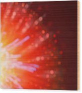Abstract Blur Firework Background Wood Print