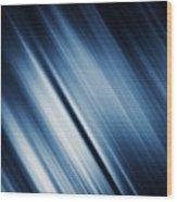 Abstract Blurred Dark Blue  Background Wood Print