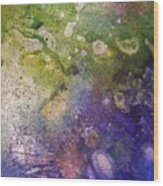 Abstract Bubbles And Rivers Wood Print