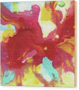 Abstract Butterfly Floral Wood Print