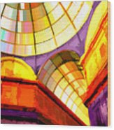 Abstract Cathedral Color Wheel Wood Print