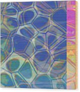 Abstract Cells 6 Wood Print