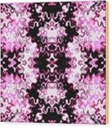 Pink And Black Design  Wood Print