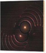 Abstract Chromeart Wood Print