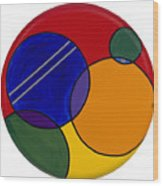 Abstract Circle 3 Wood Print