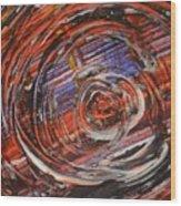Abstract- Circle Wood Print