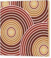 Abstract Circles Wood Print