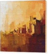 Abstract City Wood Print