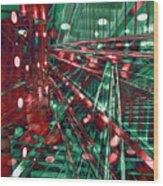 Red Berlin Sound Wood Print