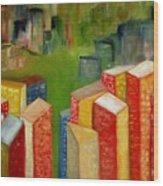 Abstract Cityscape Project Series II Wood Print