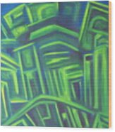 Abstract Cityscape Series IIi Wood Print