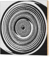 Abstract Clock Spring Wood Print