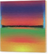 Abstract Color Blends Wood Print