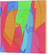 Abstract Color Block  Wood Print
