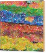 Abstract Color Combination Series - No 8 Wood Print