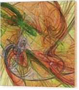 Abstract Color Swirls Wood Print