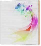 Abstract Colorful Curved Wood Print by Setsiri Silapasuwanchai