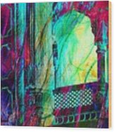 Abstract Colorful Window Balcony Exotic Travel India Rajasthan 1a Wood Print