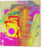 Abstract Colors Wood Print by Don  Wright
