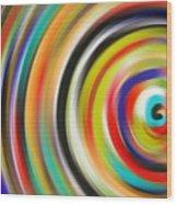 abstract Colurfull Rings Wood Print