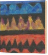 Abstract Combination Of Colors No 4 Wood Print