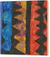 Abstract Combination Of Colors No 5 Wood Print