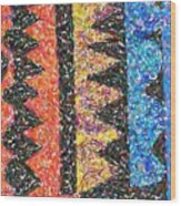 Abstract Combination Of Colors No 6 Wood Print