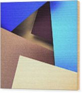 Abstract Composition With Colored Paper Wood Print