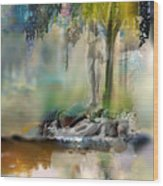Abstract Contemporary Art Titled Humanity And Natures Gift By Todd Krasovetz  Wood Print