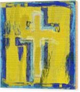 Abstract Crosses Wood Print