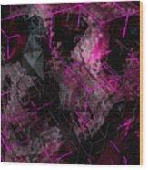 Abstract Crystal - Cg Render Wood Print