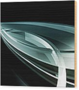 Abstract Curved Lines, Leaf Shape Wood Print