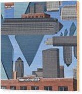 Abstract Dallas Wood Print