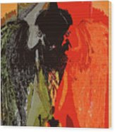 Abstract Dark Angel Wood Print