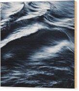 Abstract Dark Blurred Ripples Wood Print