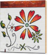 Abstract Decorative Greeting Card Art Thank You By Madart Wood Print