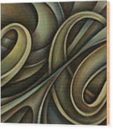 Abstract Design 12 Wood Print