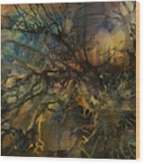 Abstract Design 88 Wood Print by Michael Lang