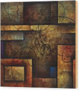 abstract design  A Wood Print
