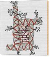 Abstract Design Of Stumps And Bricks Wood Print