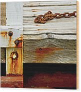 Abstract Dock Wood Print