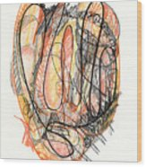 Abstract Drawing Forty-five Wood Print