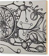 Abstract Drawing Wood Print